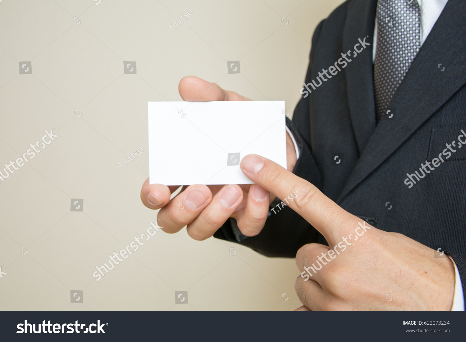 Men Who Exchange Business Cards Stock Photo (Safe to Use) 622073234 ...