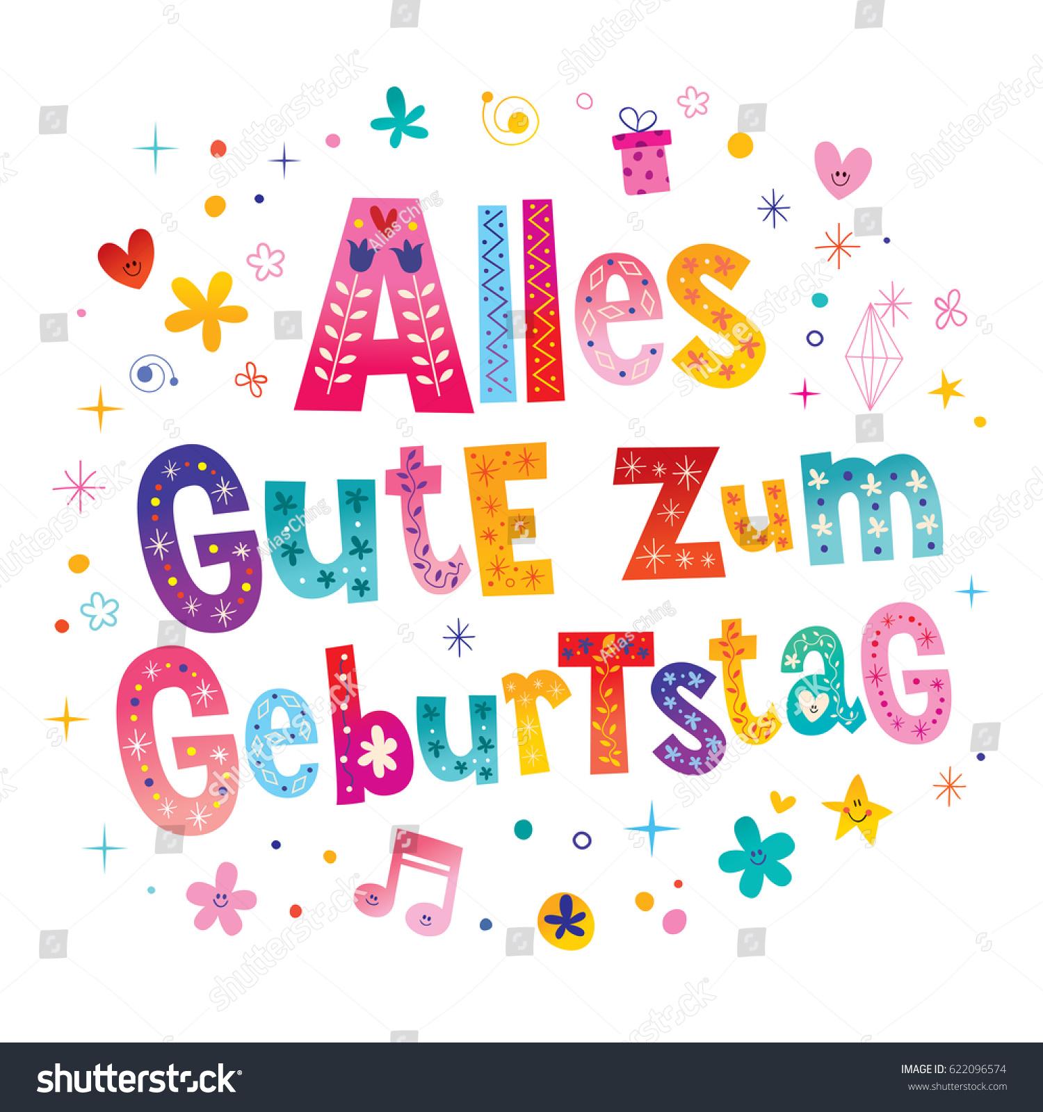 Alles gute zum geburtstag deutsch german stock vector 622096574 alles gute zum geburtstag deutsch german happy birthday greeting card m4hsunfo