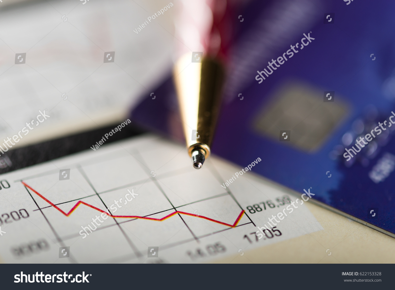 Credit Card Pen Diagram Stock Photo Edit Now 622153328 Shutterstock And