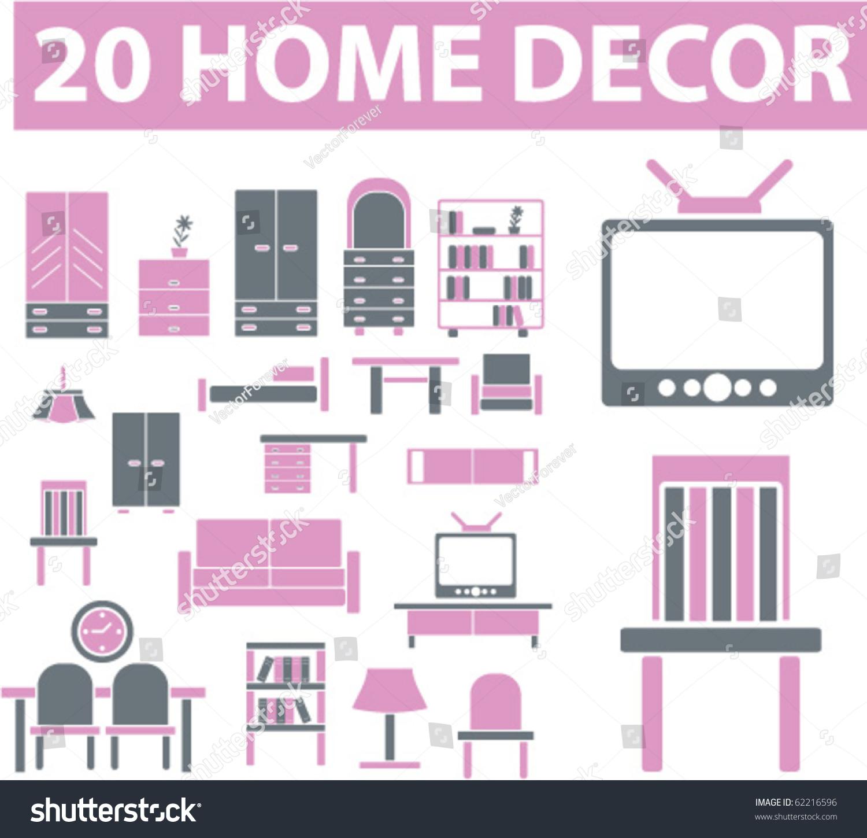 20 Home Decor Signs Vector 62216596 Shutterstock