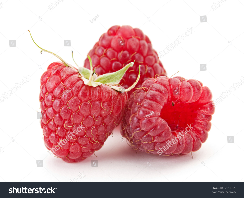 Close Healthy Fresh Red Edible Raspberry Stock Illustration ...