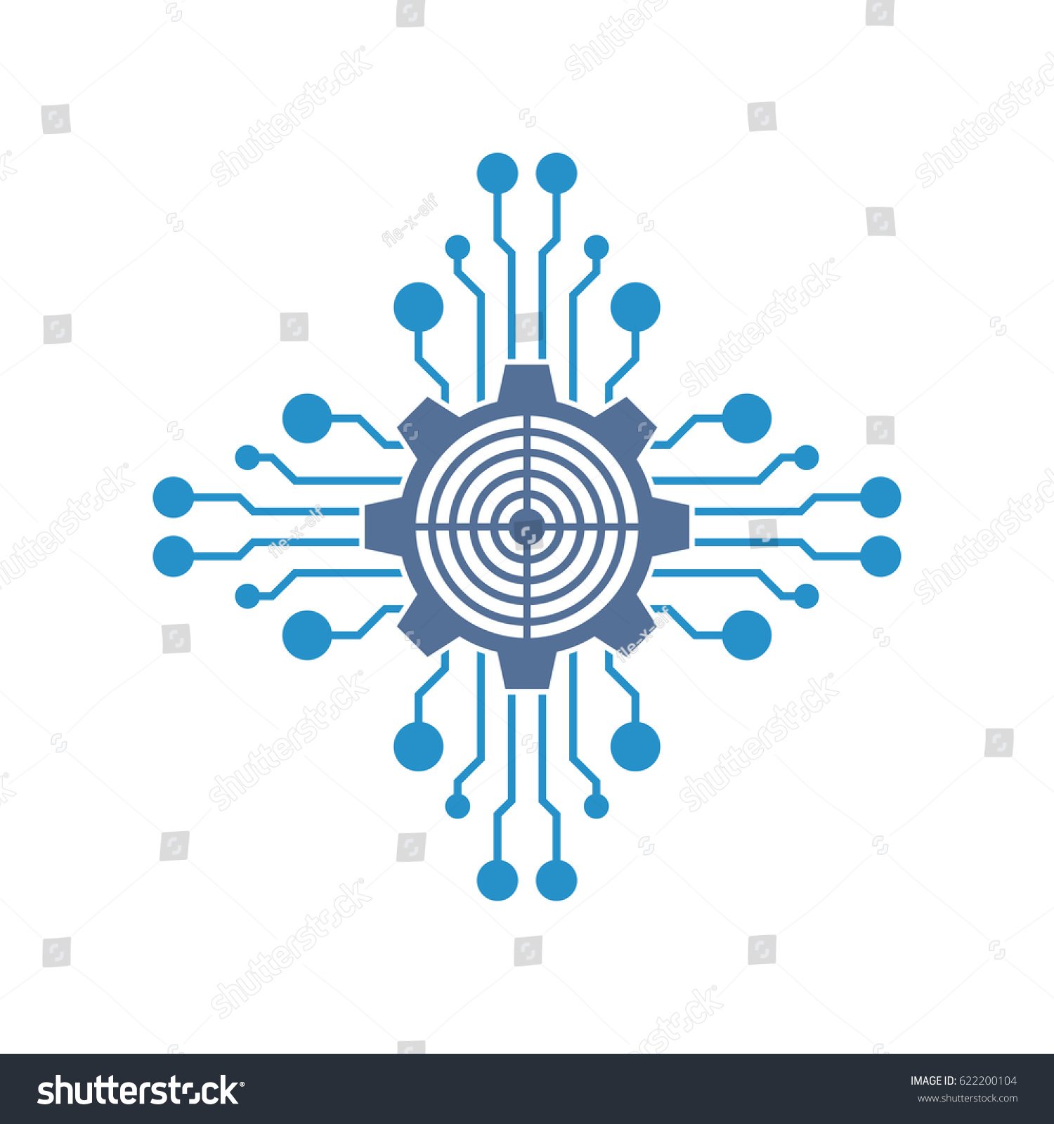 circuit tech element electronics icon stock vector royalty free rh shutterstock com