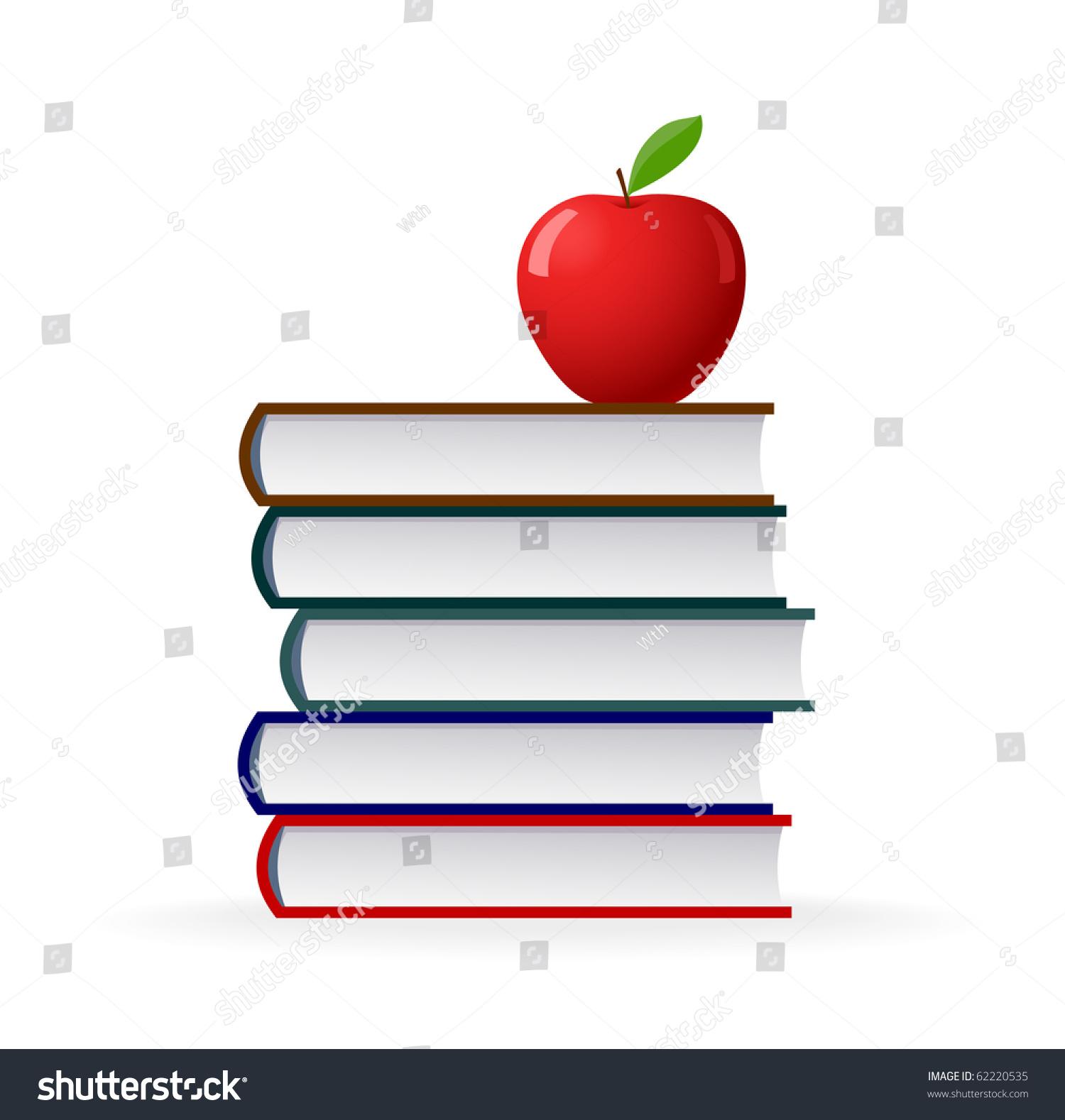 Education symbol stack books red apple stock vector 62220535 education symbol stack of books and red apple buycottarizona