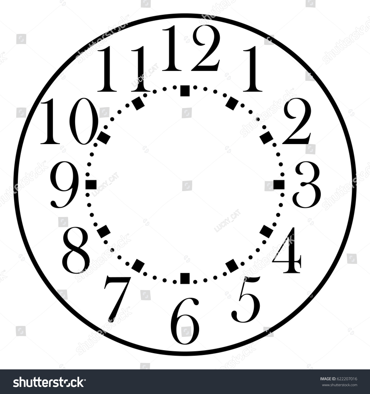 Dial House Alarm Table Kitchen Wall Stock Vector (Royalty