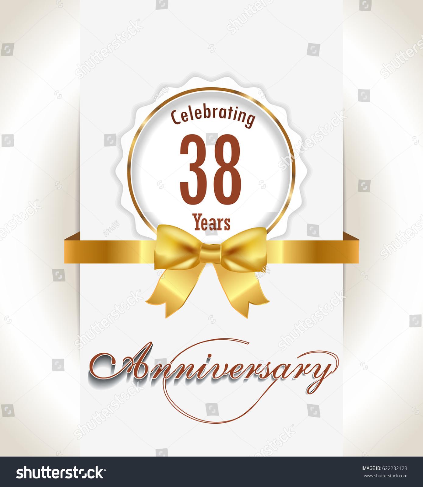 38th Anniversary Background 38 Years Celebration Stock