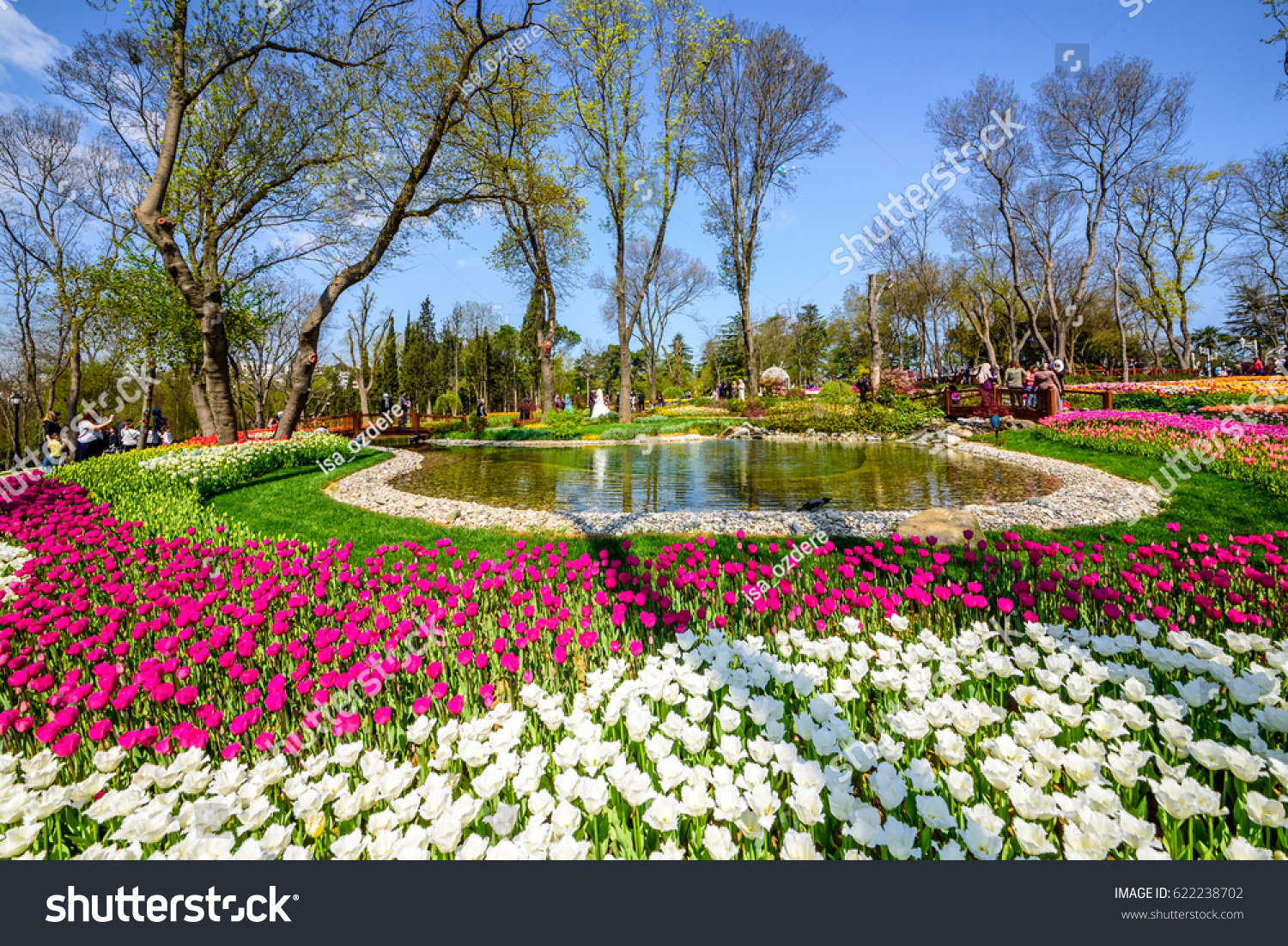 istanbulturkey april 152017 traditional tulip festival stock photo