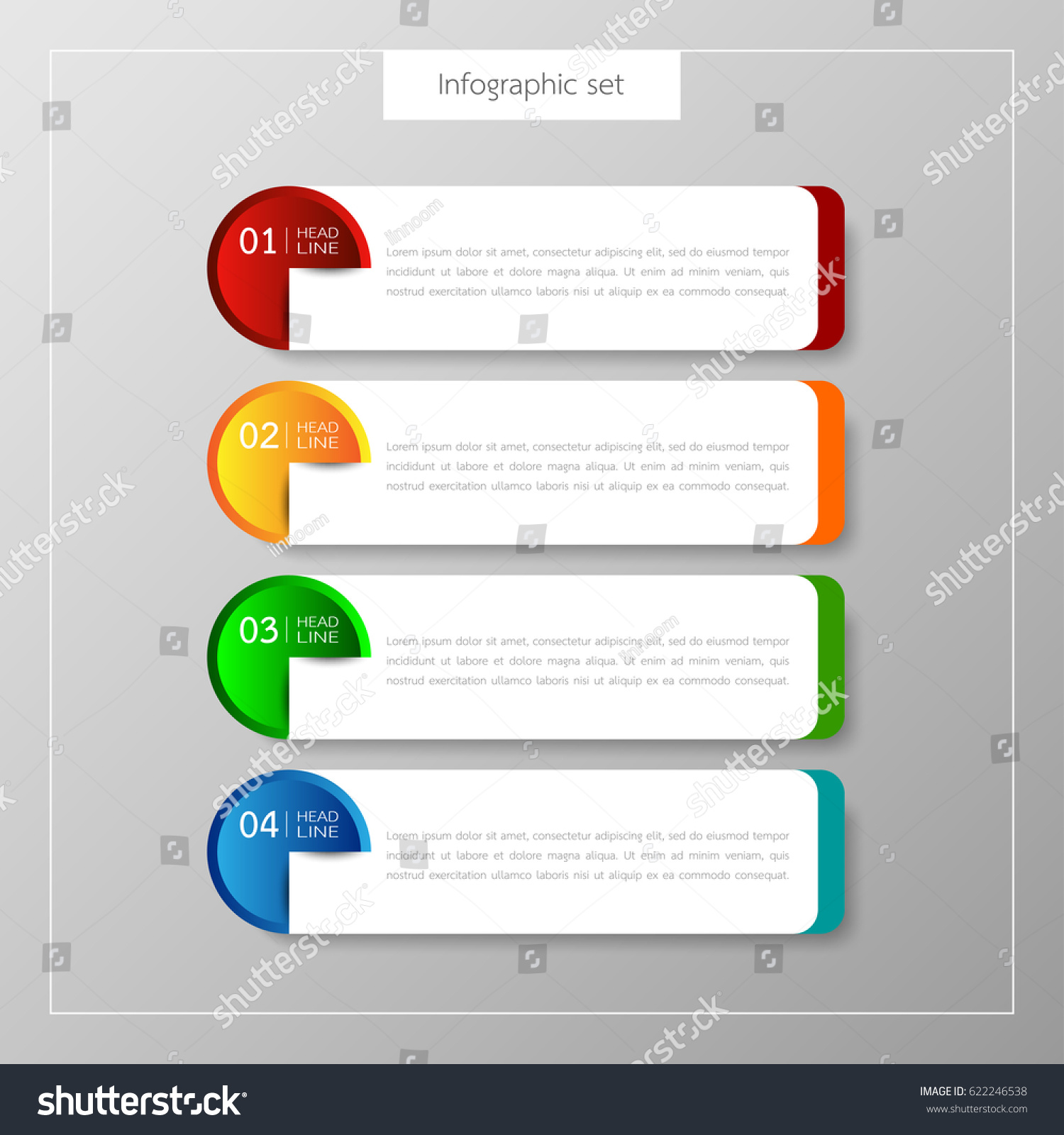 Business card box template vector awesome graphic library business card box template vector infographic button template banner set colorful stock photo photo rh shutterstock com reheart Image collections