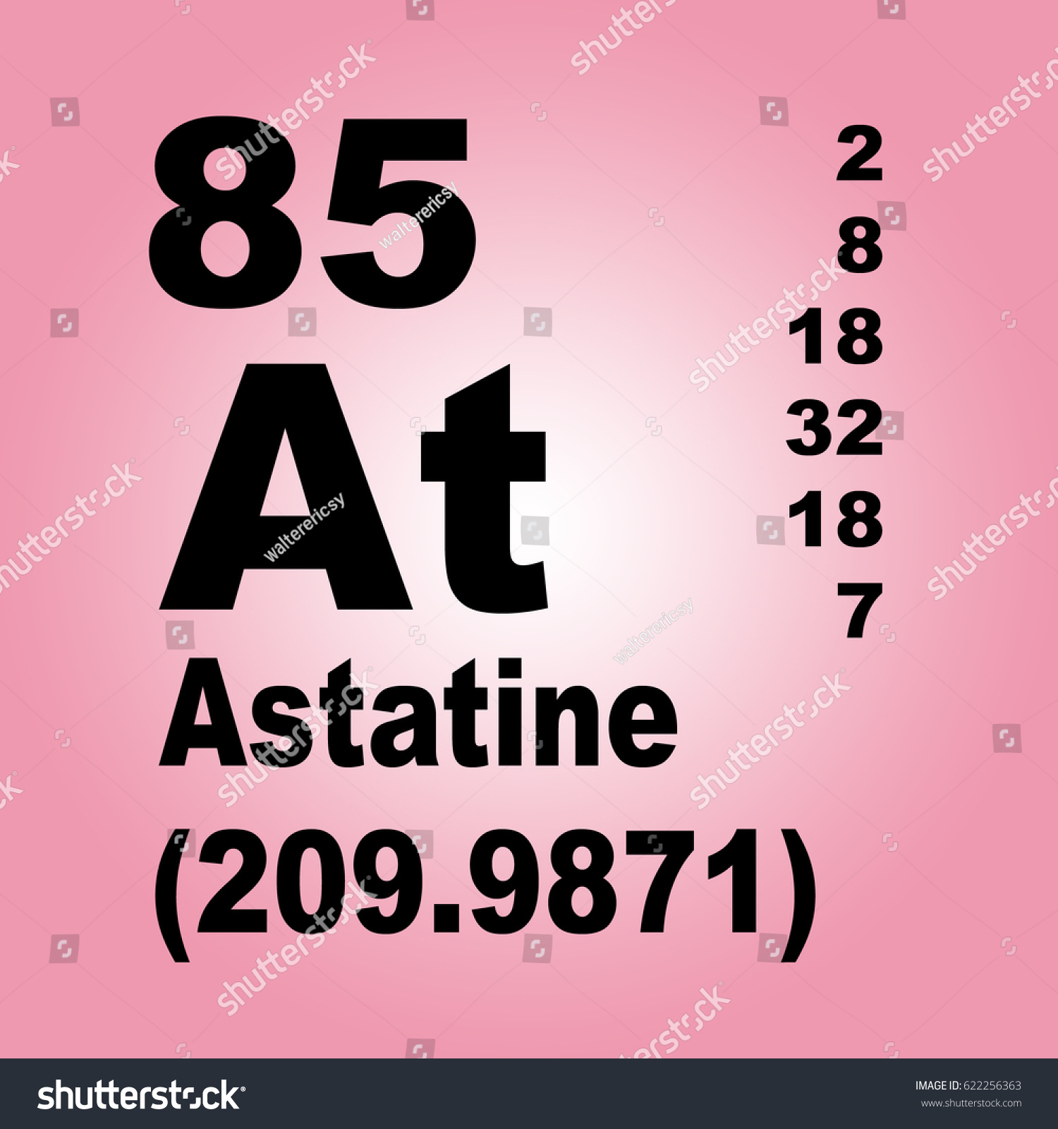 Astatine periodic table elements stock illustration 622256363 astatine periodic table of elements gamestrikefo Gallery
