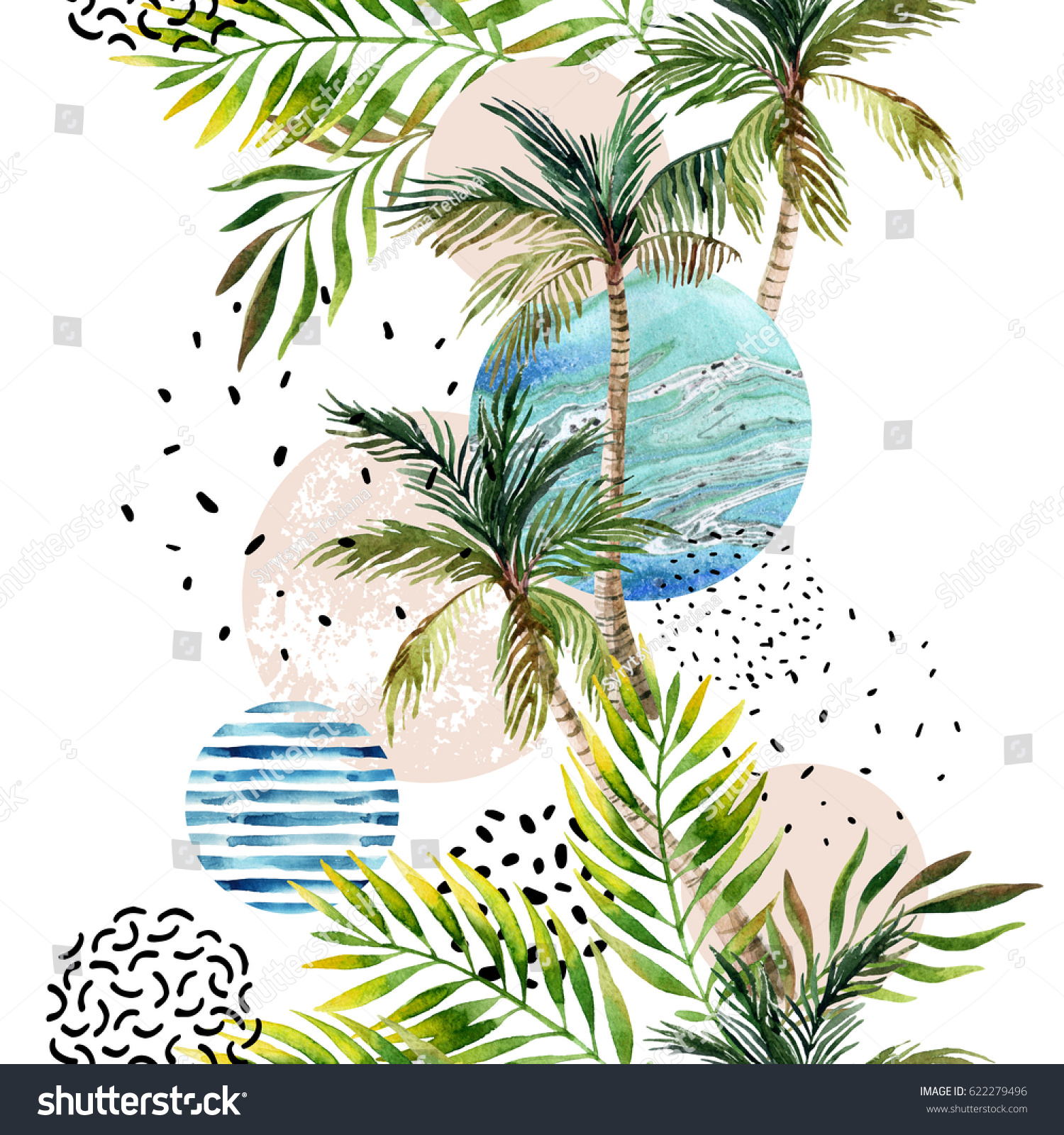 Similar Images, Stock Photos & Vectors of Abstract Summer Geometric ...