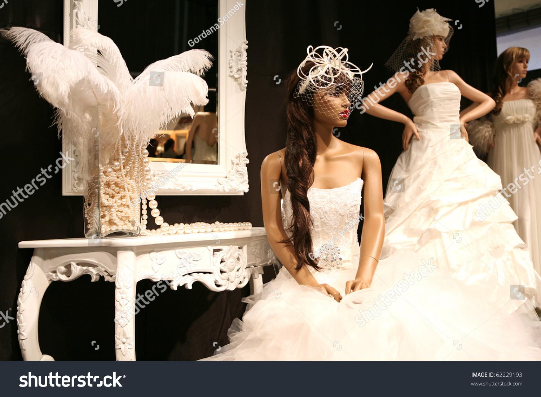 Wedding Dresses On Mannequins Stock Photo 62229193