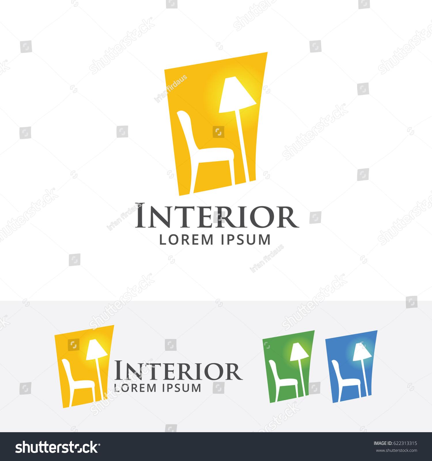 home interior vector logo template stock vector 622313315 shutterstock