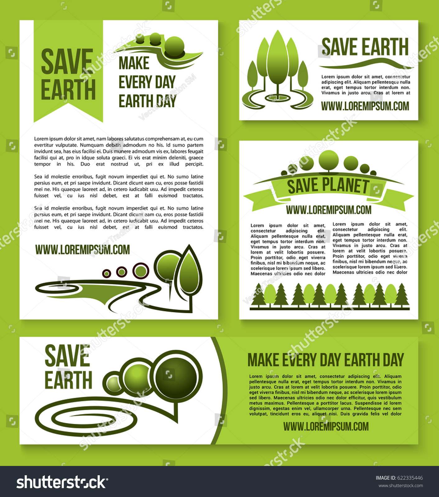 Save Earth Save Planet Design Templates Stock Vector 622335446 ...