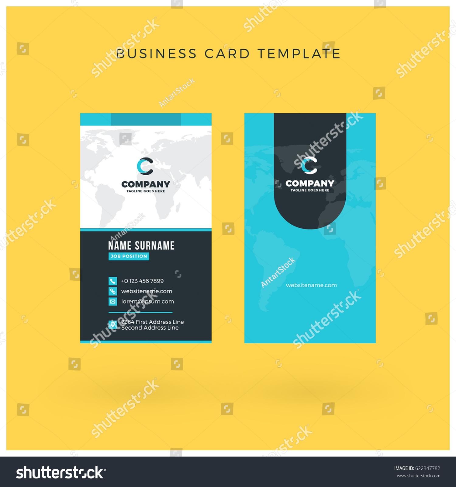 Modern Creative Vertical Doublesided Business Card Stock Vector ...