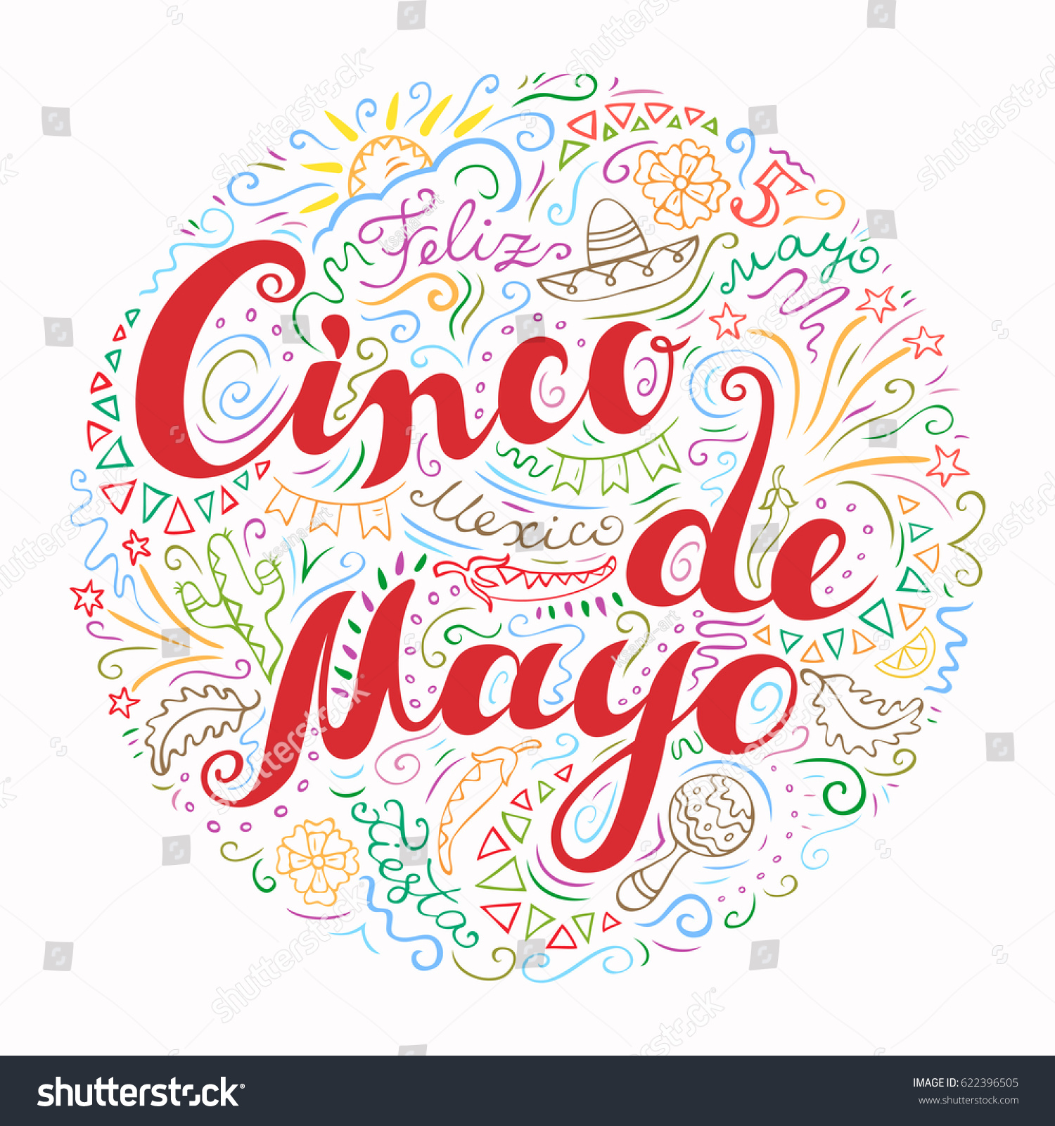 Cinco de mayo card hand drawn stock vector 622396505 shutterstock cinco de mayo card hand drawn celebration phrase doodle style handwritten greetings with mexican kristyandbryce Gallery