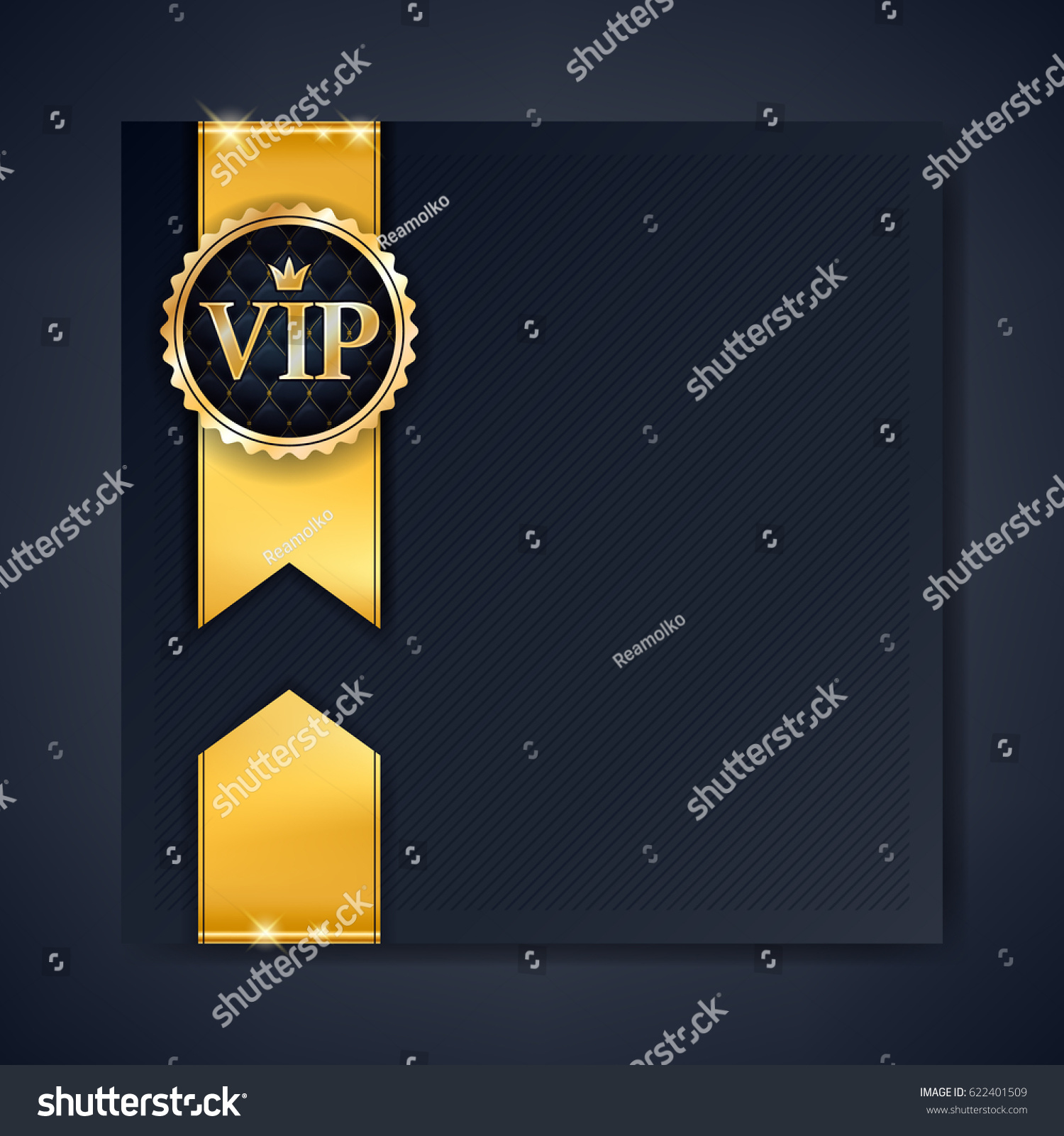 Vip club party premium invitation card stock vector 622401509 vip club party premium invitation card poster flyer black and golden design template with copy spiritdancerdesigns Images
