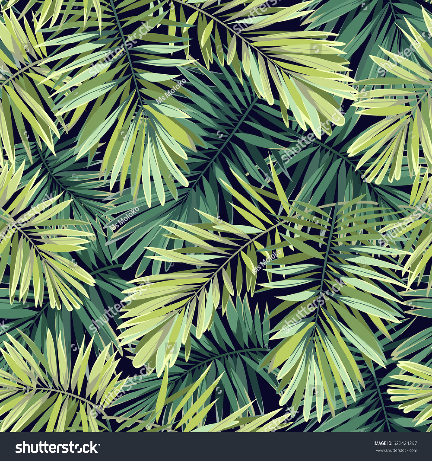 Ilustracoes Stock Imagens E Vetores De Bright Green Background Tropical Plants Seamless 622424297