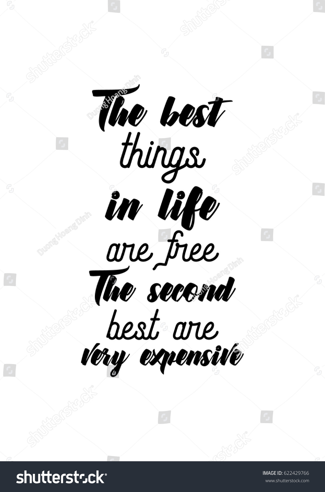 Life Best Quotes Lettering Quotes Motivation About Life Quote Stock Vector