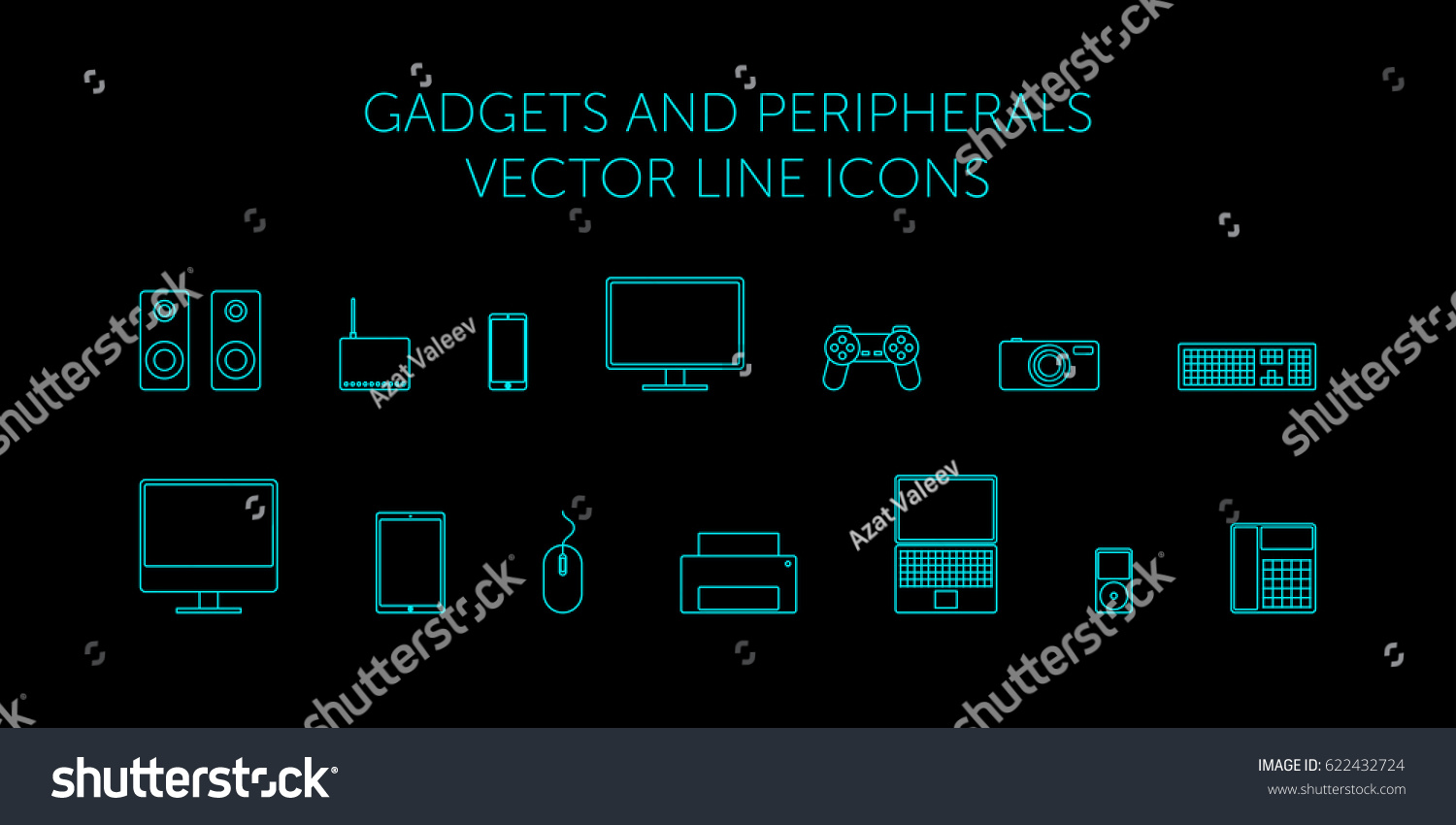 Schematic Computer Technology Monitor Laptop Speakers Stock Vector Mouse Diagram And Image Keyboard Modem