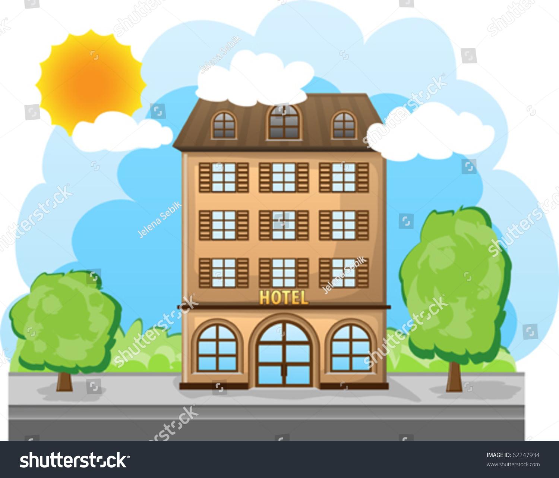 Cartoon Hotel Stock Vector 62247934 - Shutterstock