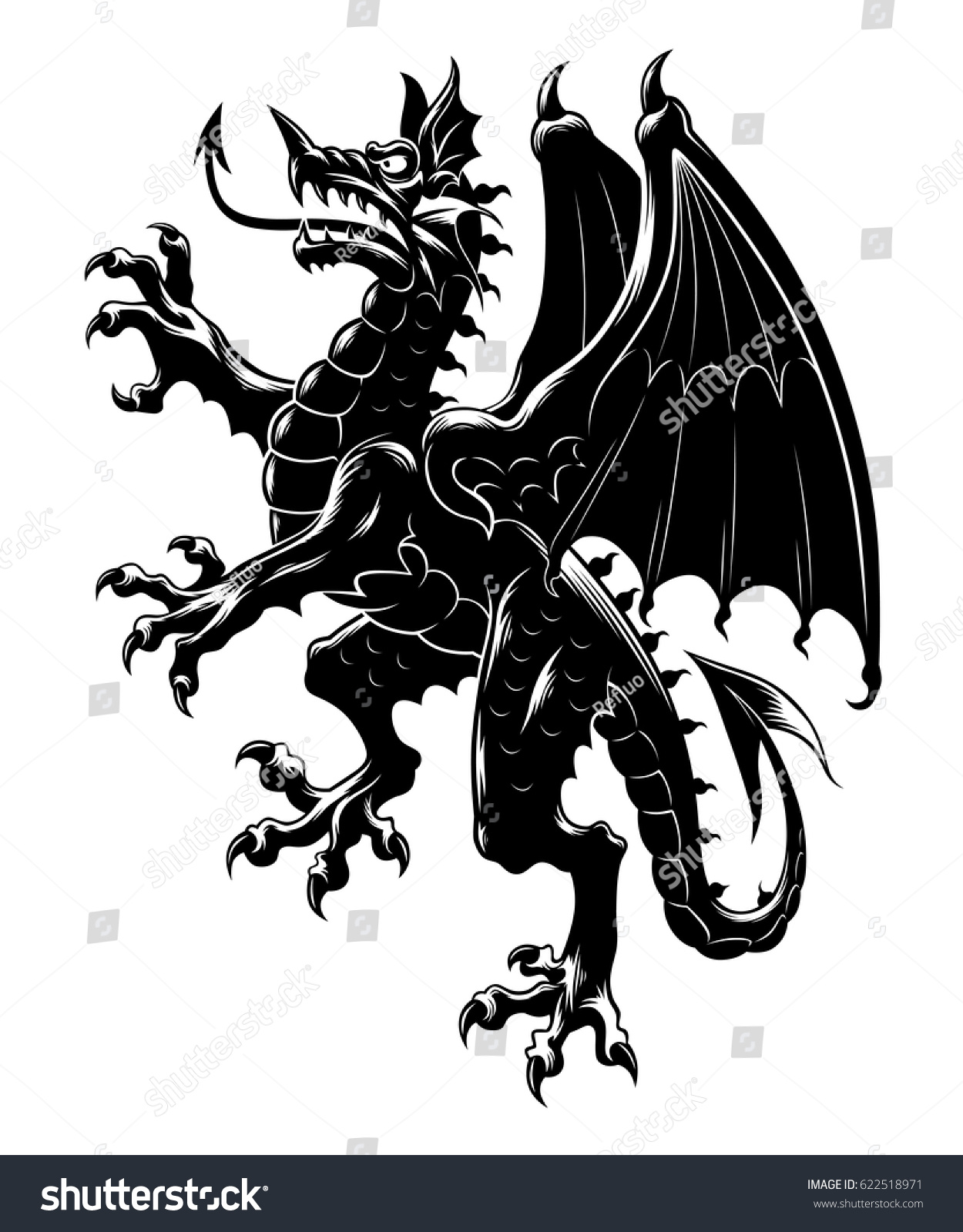 How to breed heraldic dragon - Heraldic Dragon Vertical