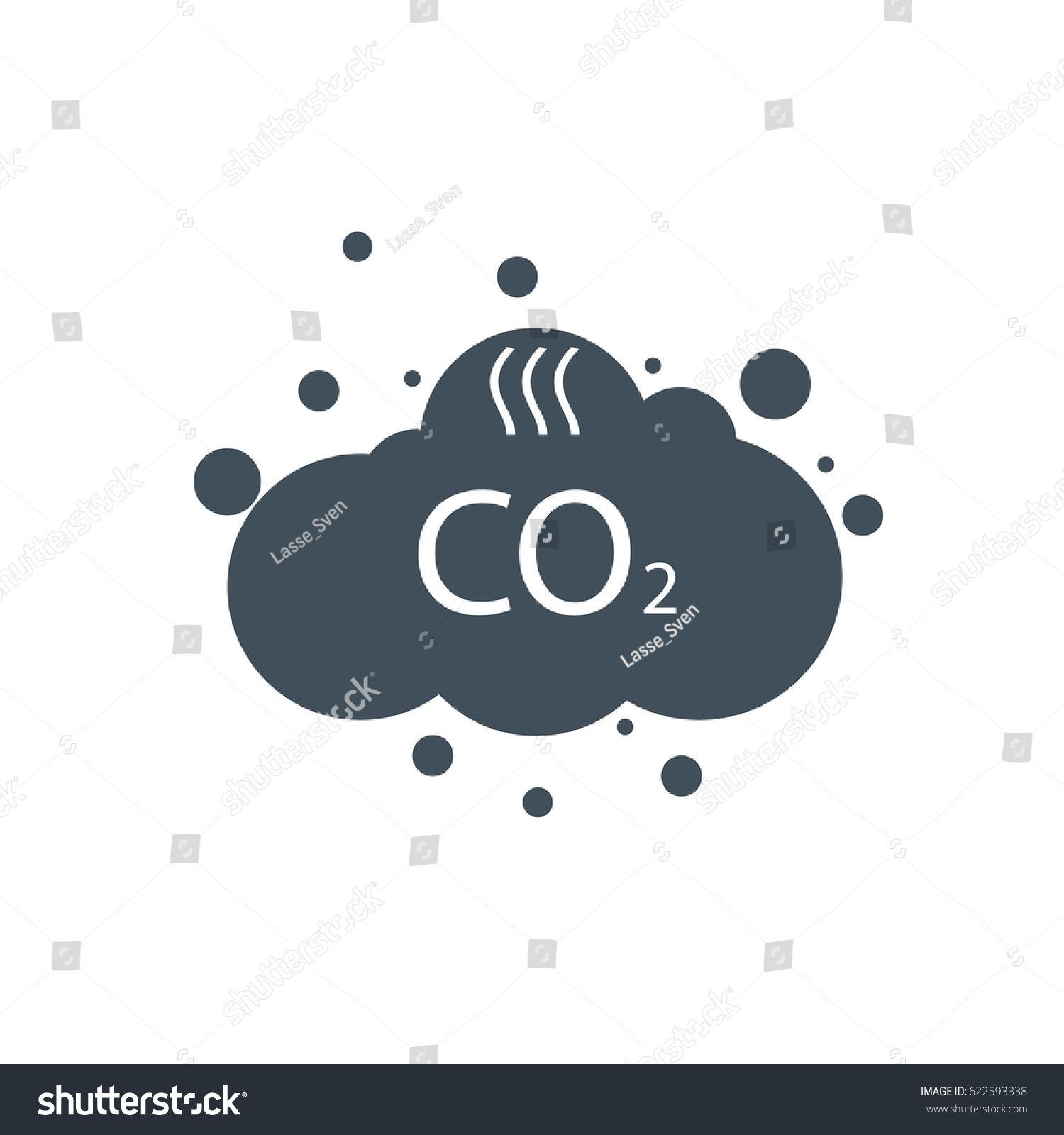 how to write the symbol for carbon dioxide
