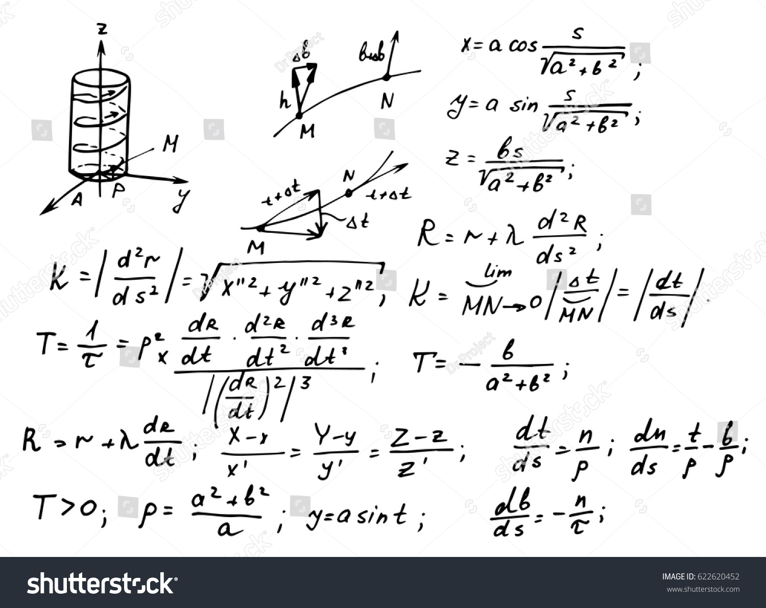 Circuit Diagram And Equations Ez Canvas Notation On Electronic Symbols Stock Vector