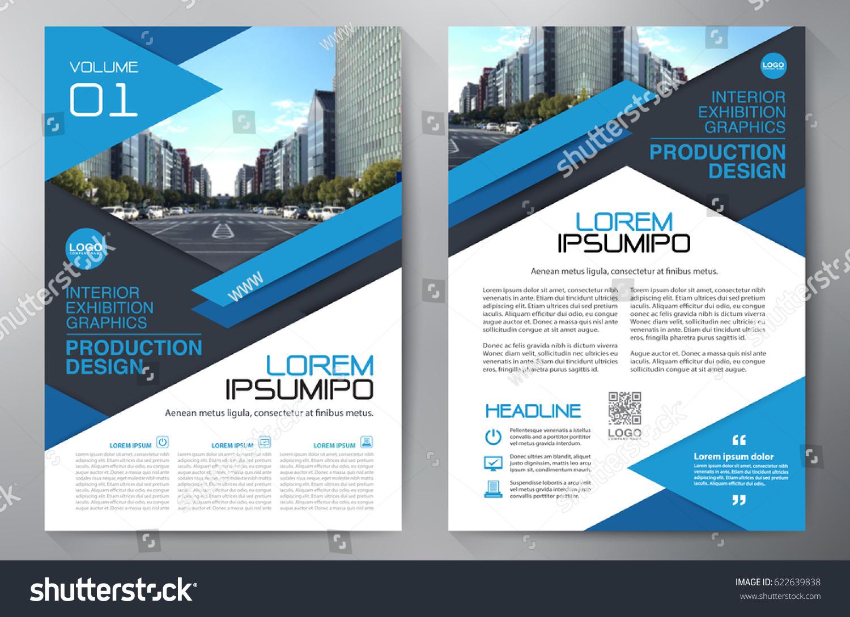 business brochure flyer design leaflets a 4 のベクター画像素材