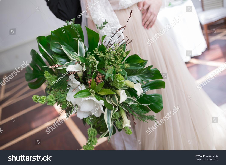 Wedding Bouquet Tropical Flowers Blossom Tropical Stock Photo ...