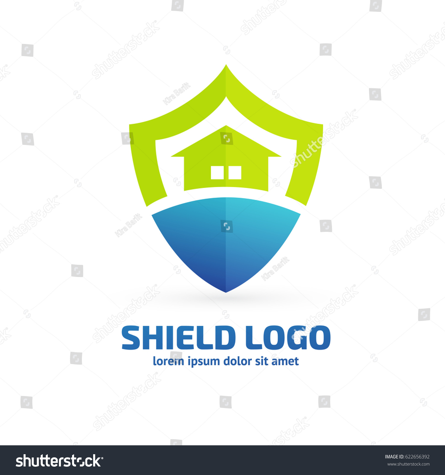 Logo Design Abstract Shield House Vector Stock Vector (2018 ...
