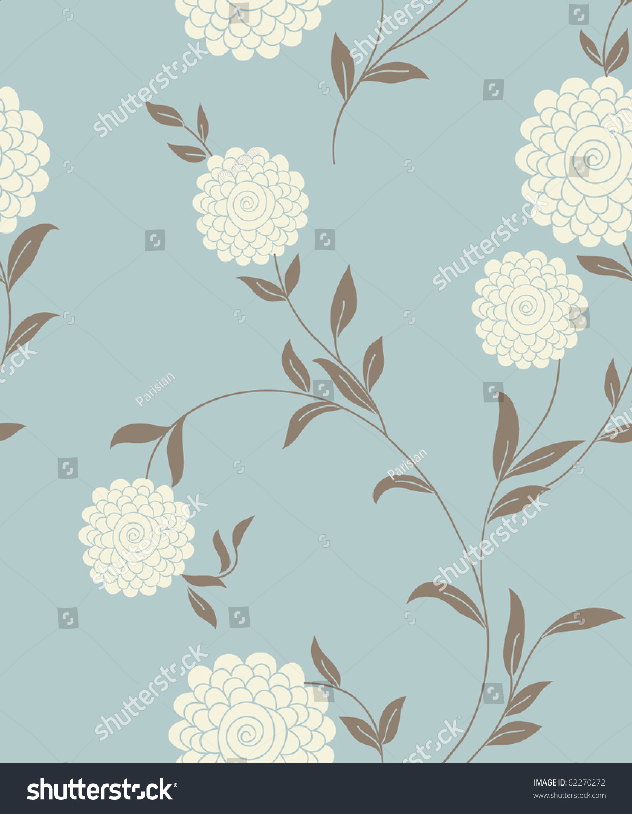 Floral Vintage Seamless Pattern Retro Wallpapers Royalty Free