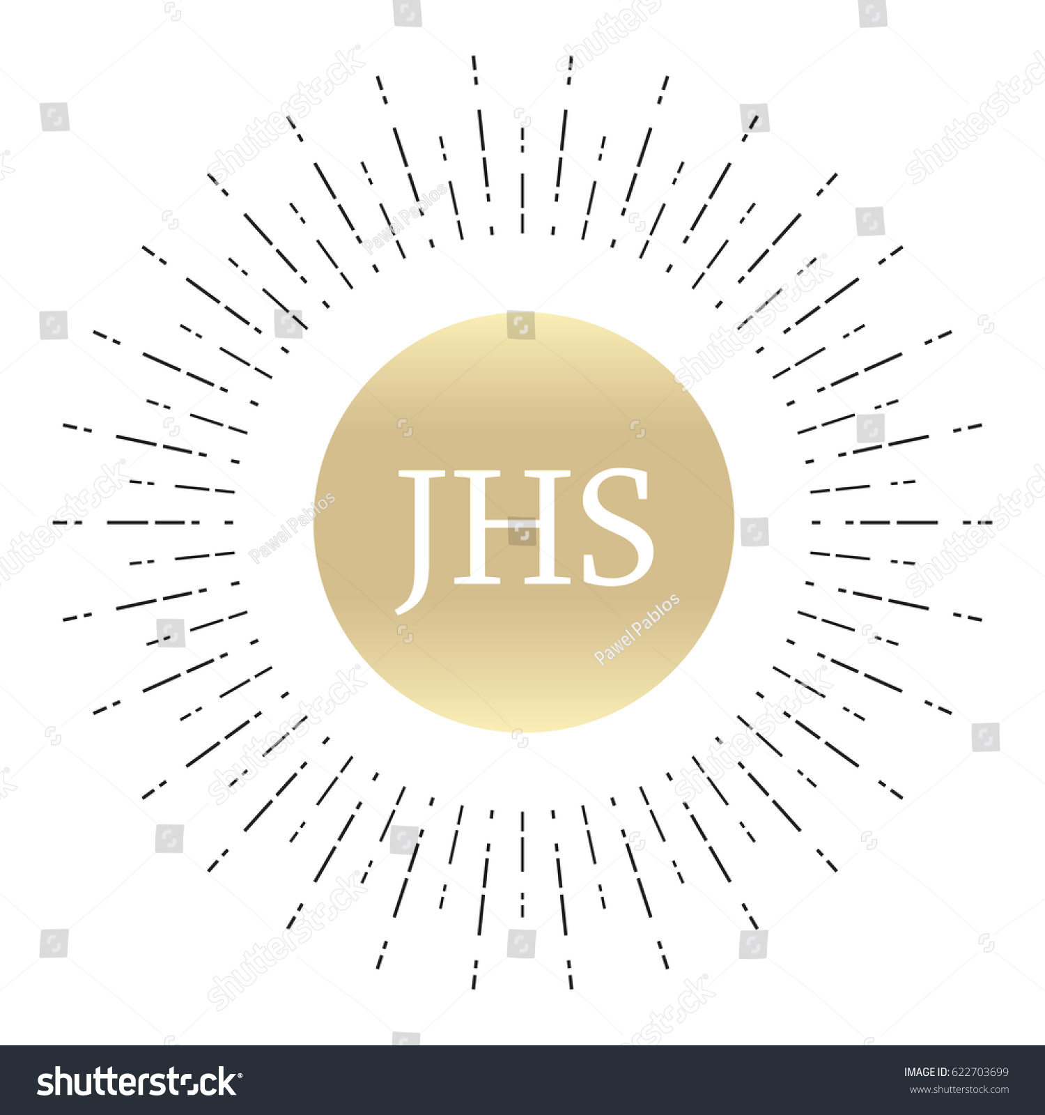 Religious Sign Christianity Ihs Jhs Monogram Stock Vector Royalty