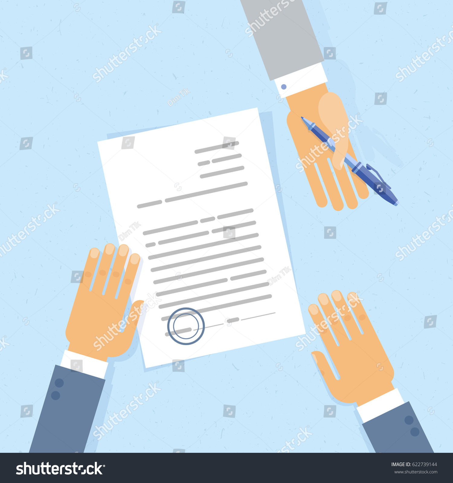 businessman sign a business letter contract or document and somebody offer a pen to - How To Sign A Business Letter