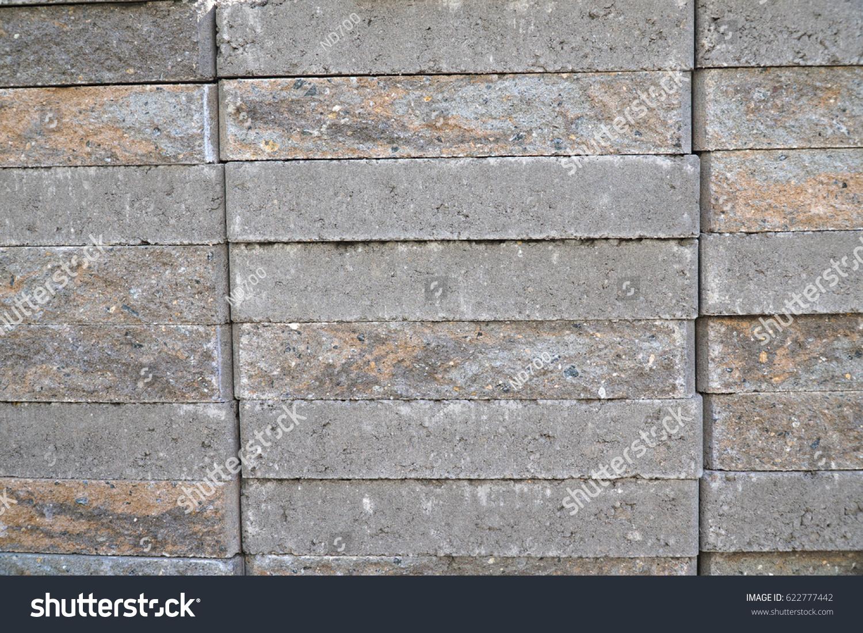 Stacking Grey Bricks Background