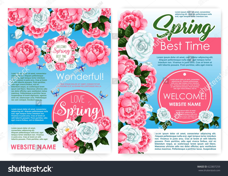 Spring Flowers Design Seasonal Springtime Holiday Stock Vector
