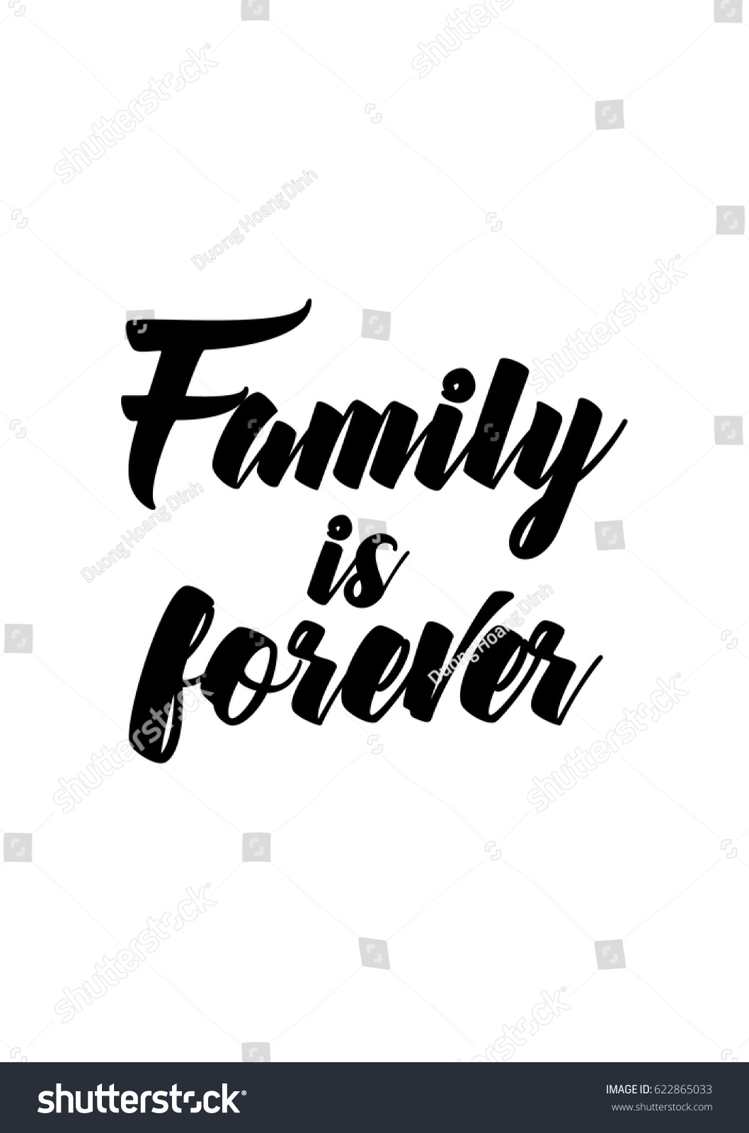 Family Is Forever Quotes Lettering Quotes Motivation About Life Quote Stock Vector