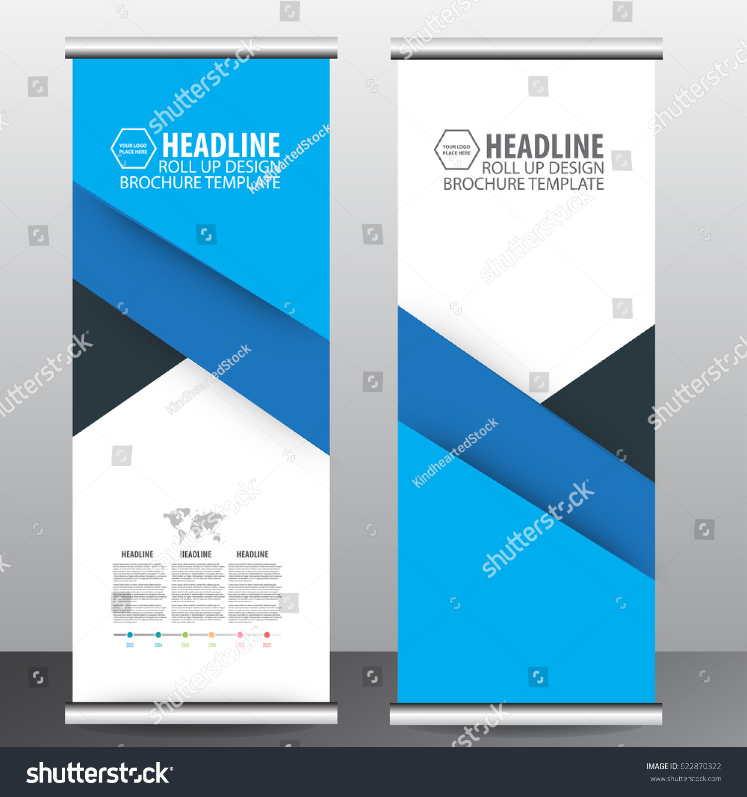 blue roll up business brochure flyer banner design vertical template vector, cover presentation abstract geometric background, modern publication x-banner and flag-banner,carpet design #622870322