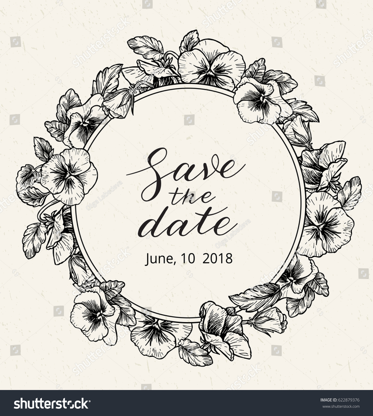wedding invitation design template save date stock vector royalty