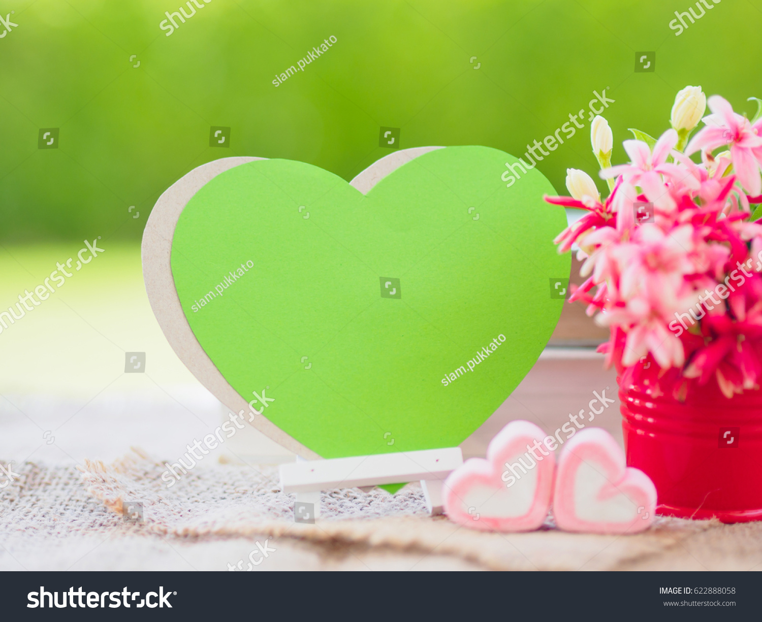 Poster Mock Template Flower Bouquet Marshmallow Stock Photo (Safe to ...
