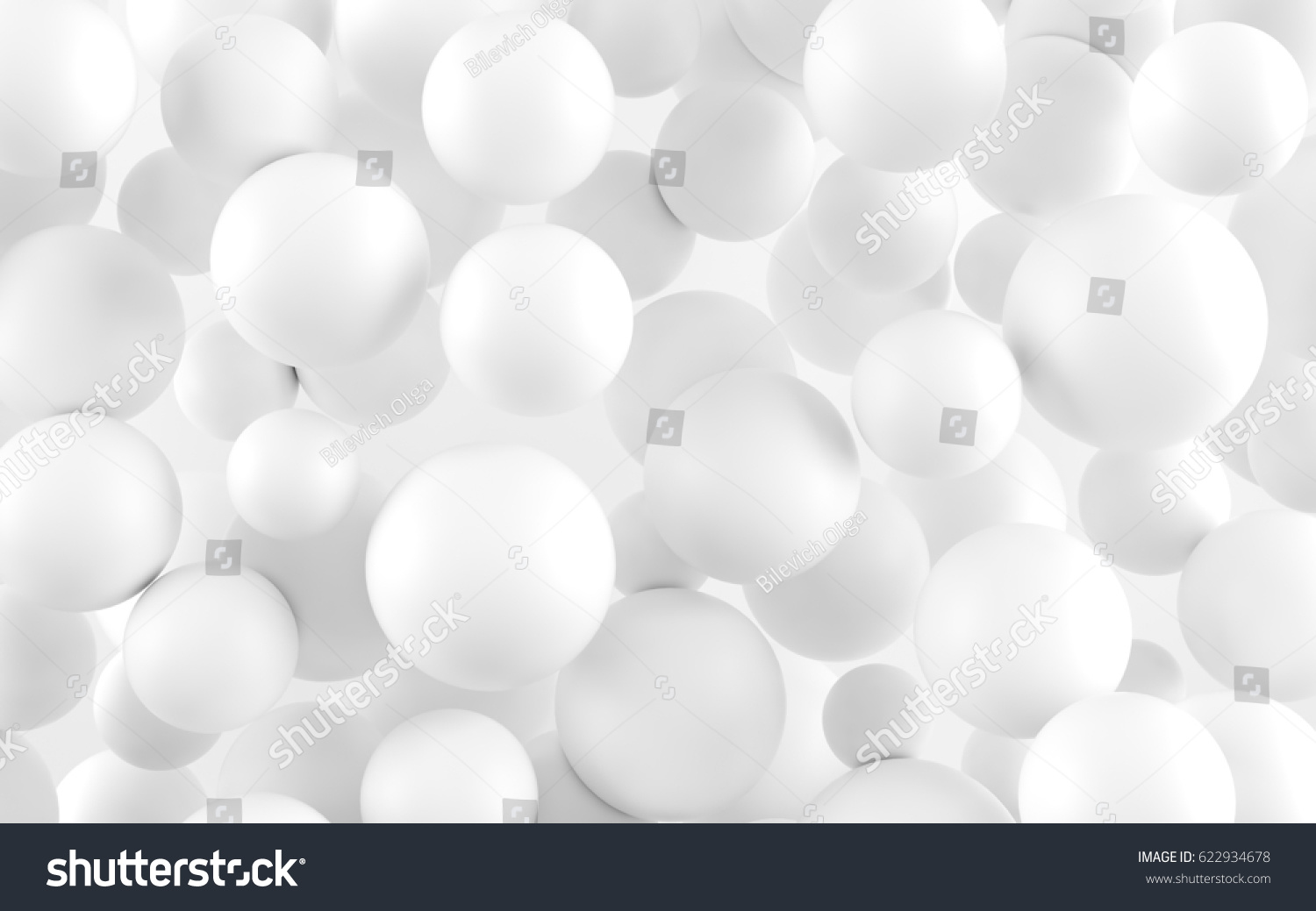 D background images - White Shpere Pearl Background 3 D Rendering