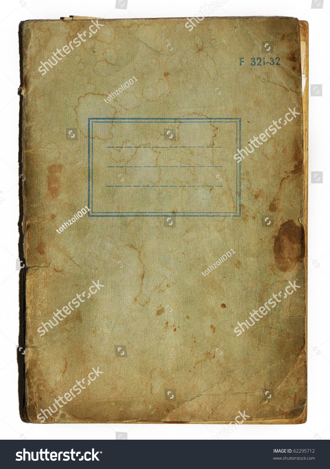 Old School Book Cover : Old school exercise book cover stock photo