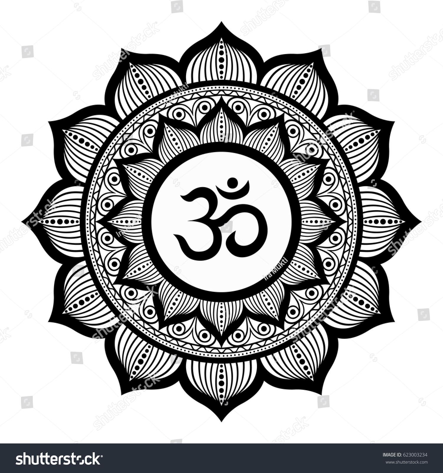 Om symbol ethnic mandala round ornament stock vector 623003234 om symbol ethnic mandala round ornament vector art buycottarizona