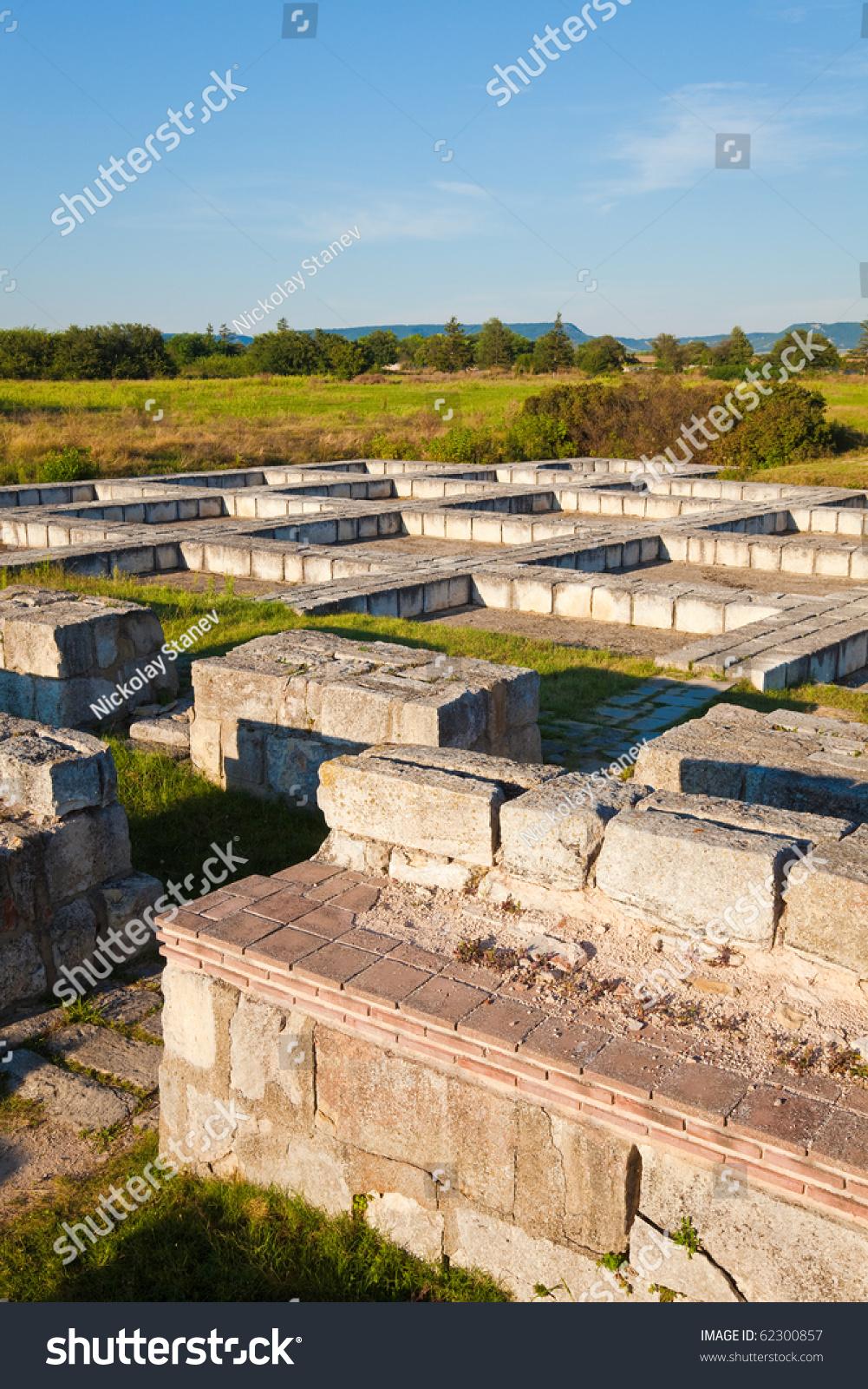 Ruins Royal Palace Pliska First Capital Stock Photo Edit Now