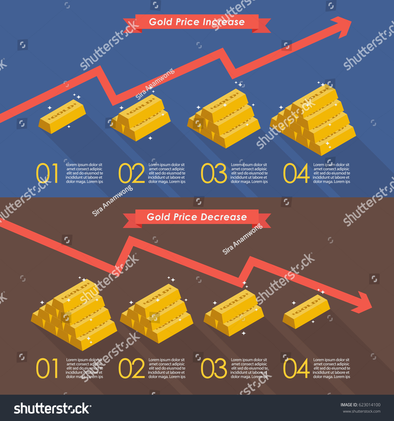 Gold price chart infographic vector illustration stock vector gold with price chart infographic vector illustration buycottarizona Images