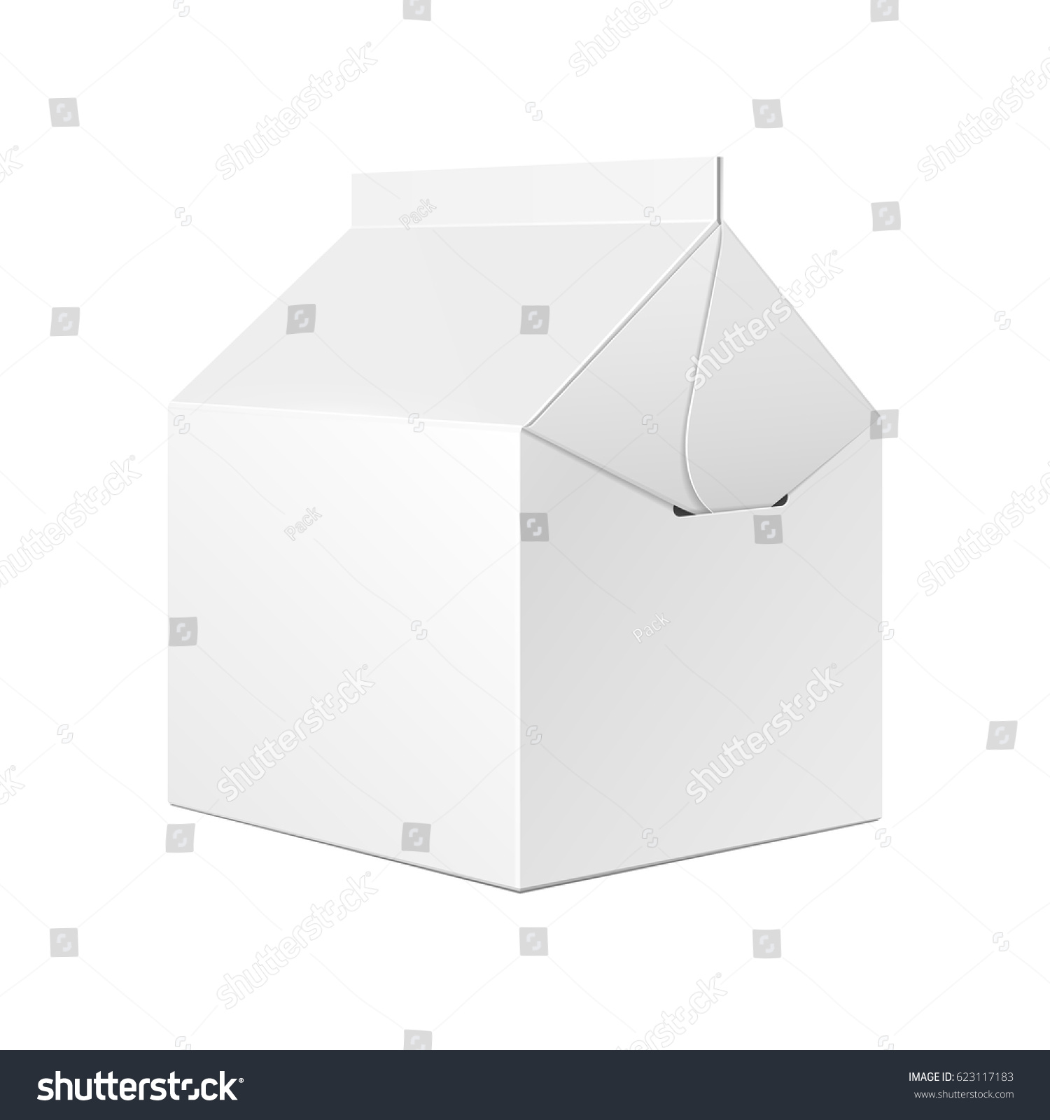 Cardboard Carry Packaging Box Fast Food Stock Vector (Royalty Free ...