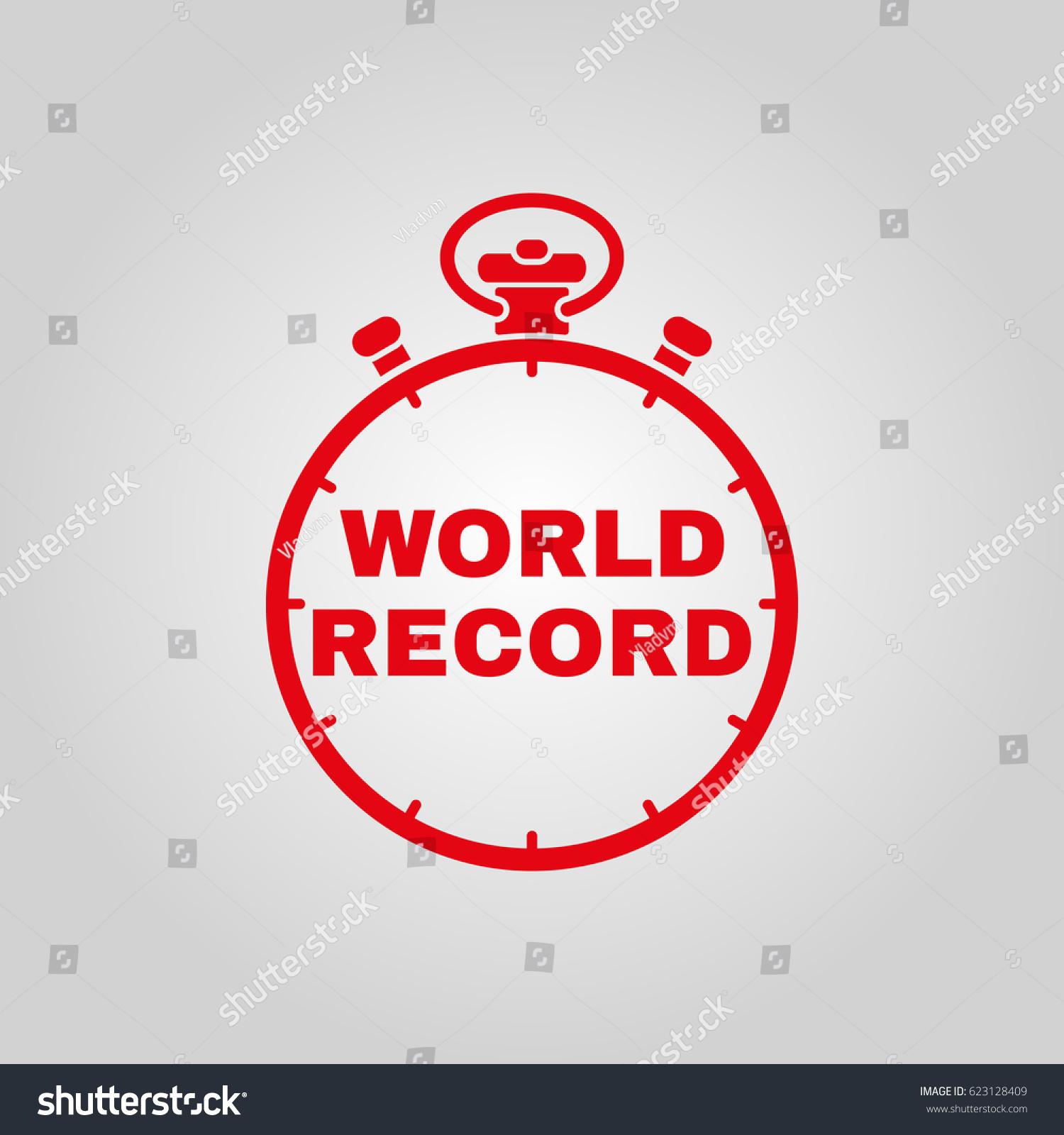 Stopwatch word world record icon symbol stock vector 623128409 stopwatch with the word world record icon symbol flat design stock vector buycottarizona