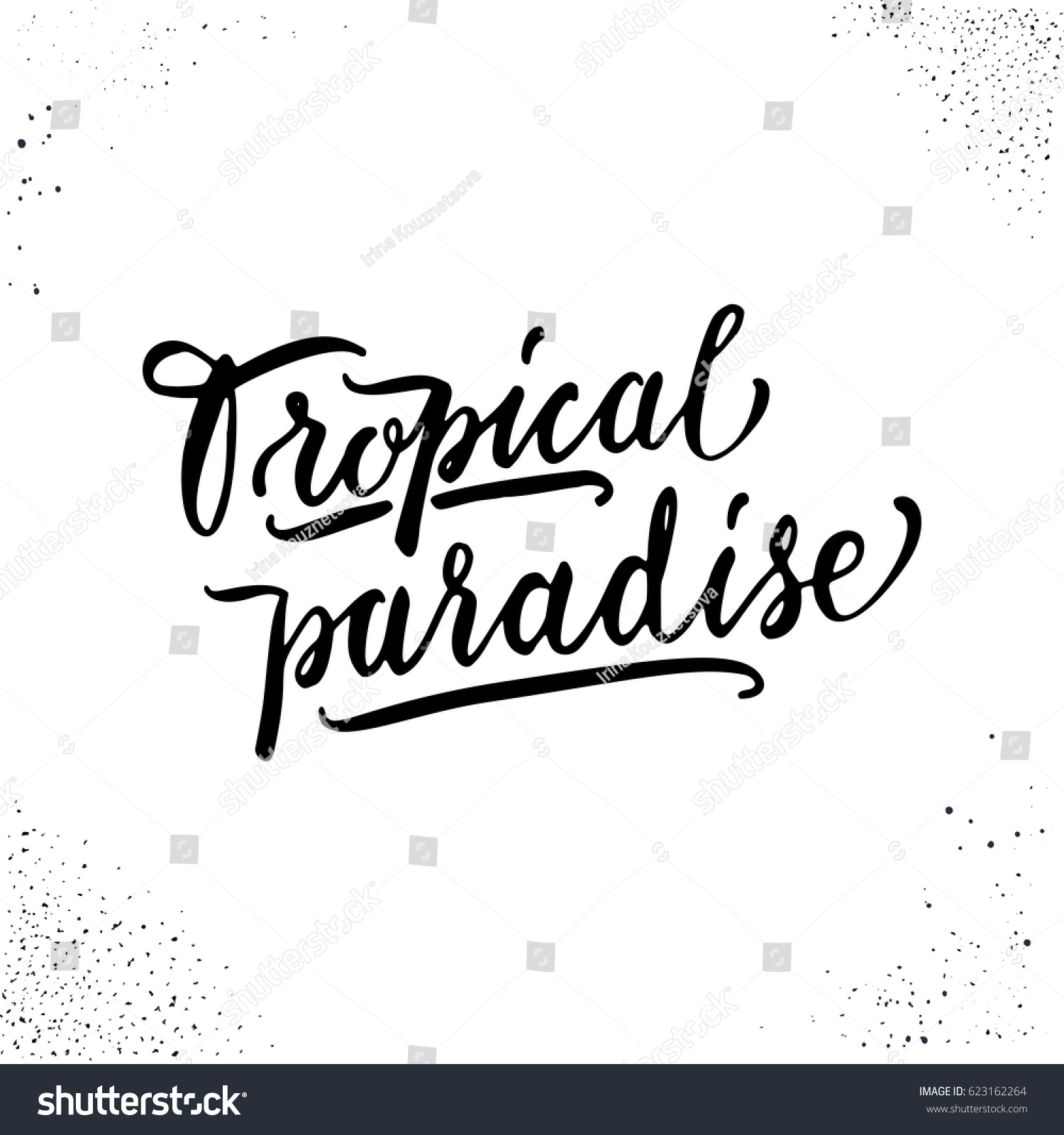 Summer Hand Drawn Lettering Motivational Quote Stock Vector Royalty