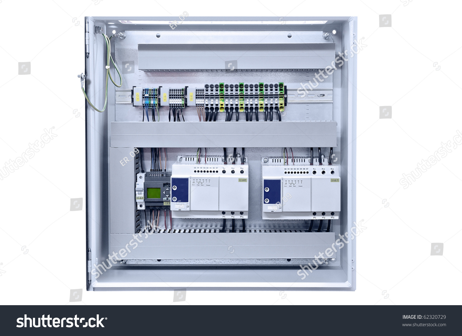 Electricity Distribution Box Wires Circuit Breakers Stock Photo Fuse With And