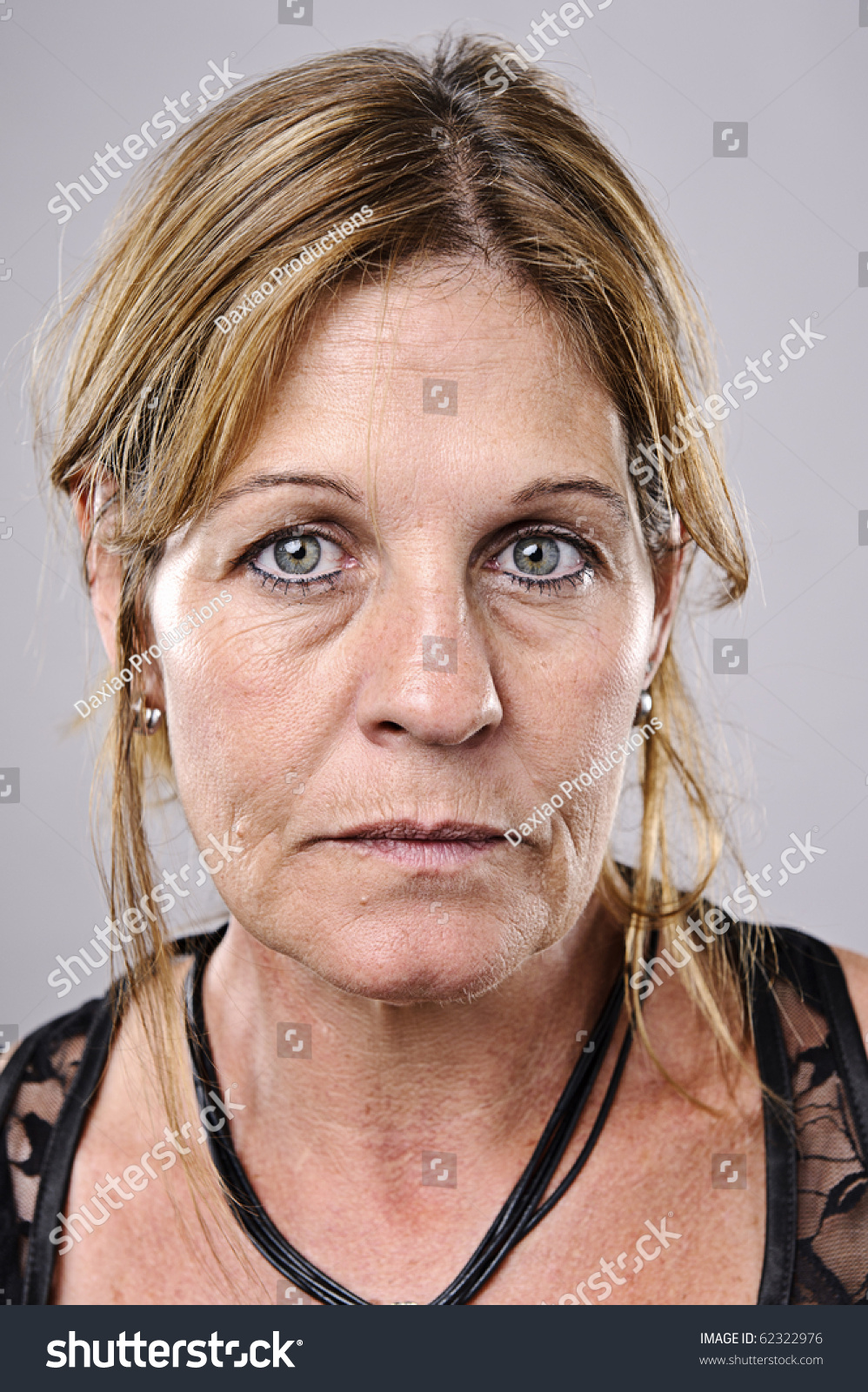brunette older woman portrait high detail stock photo (royalty free