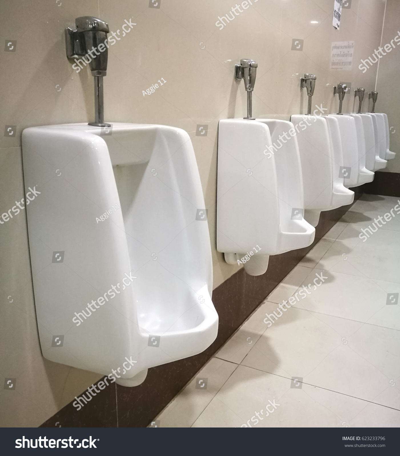 Row Outdoor Urinals Men Public Toiletcloseup Stock Photo 623233796 ...