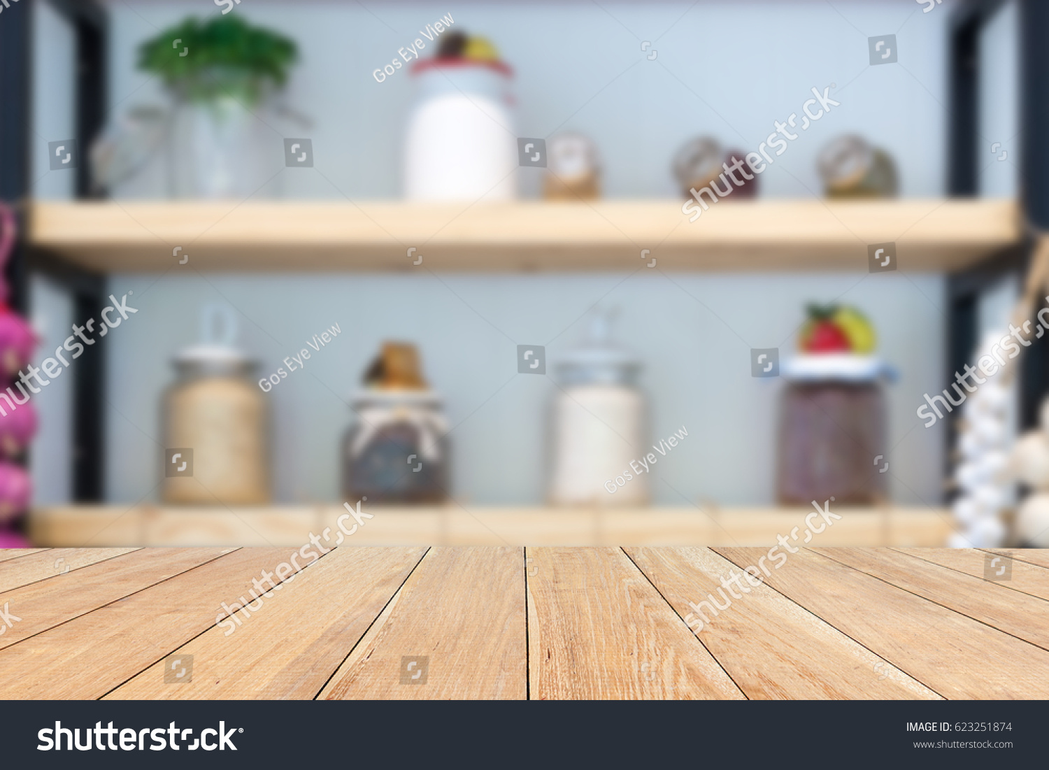 Natural Empty Pattern Wooden Table Blurred Stock Photo (Edit Now ...